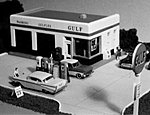 1930s Crafton Avenue Service Station Kit -- HO Scale Model Railroad Building -- #108