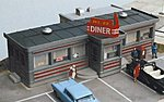 Route 22 Diner Kit -- HO Scale Model Railroad Building -- #110