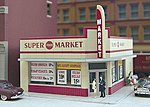 West End Market Kit -- HO Scale Model Railroad Building -- #114