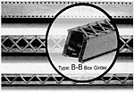 Bridge Box Girder Sections -- Kit - Heavy-Duty Laced 5 Sprues, 178'' 452.1cm Total & 58'' 147.3cm Second - HO-Scale (5)