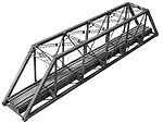 150' Pratt Truss Bridge Kit -- HO Scale Model Railroad Bridge -- #1902