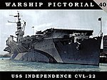 Warship Pictorial- USS Independence CVL22 -- Military History Book -- #40