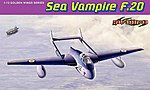Sea Vampire F.20 -- Plastic Model Airplane Kit -- 1/72 Scale -- #5112