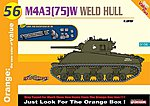 M4A3(75)W Welded Hull -- Plastic Model Military Vehicle Kit -- 1/35 Scale -- #9156