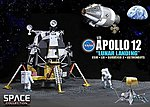 Apollo 12 Lunar Landing -- Diecast Model Spacecraft -- 1/72 Scale -- #50387