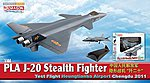 PLA J-20 Stealth Fighter -- Diecast Model Airplane -- 1/144 Scale -- #51030