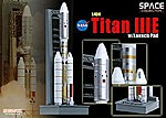 Titan IIIE with Launch Pad -- Diecast Model Spacecraft -- 1/400 scale -- #56343