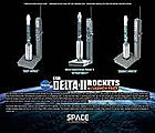 Delta II Rockets -- Diecast Model Spacecraft -- 1/400 Scale -- #56394