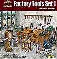 1/35 Factory Tools Set- Worktable & 73 Tool Accessories