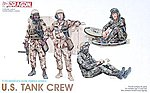 US Tank Crew -- Plastic Model Military Figure Kit -- 1/35 Scale -- #3020