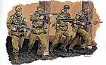 German Paratroopers -- Plastic Model Military Figure -- 1/35 Scale -- #3021