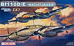 Bf110D/E Nachtjager Fighter (2 in 1) -- Plastic Model Airplane Kit -- 1/32 Scale -- #3210