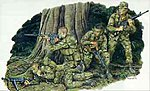 Marine Recon Soldiers (4) -- Plastic Model Military Figure -- 1/35 Scale -- #3313
