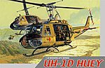 UH-1D Huey with 4 Crewmen -- Plastic Model Helicopter Kit -- 1/35 Scale -- #3538