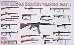 WWII German Infantry Weapons Part 1 -- Plastic Model Weapons -- 1/35 Scale -- #3809
