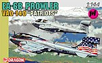 EA6B Prowler VAQ140 Patriots USN Fighter (2 Kits) -- Plastic Model Airplane Kit -- 1/144 -- #4589
