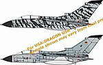 Tornado ECR Lechfeld Tigers JBG32 Jet Fighter -- Plastic Model Airplane Kit -- 1/144 Scale -- #4594