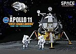 NASA- Apollo 11 1st Lunar Landing CSM & Lunar Module -- Space Program Plastic Kit -- 1/72 -- #50391