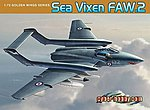 Sea Vixen FAW2 Aircraft -- Plastic Model Airplane Kit -- 1/72 Scale -- #5105