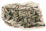 German WWII MG42 Heavy Machine Gun Team -- Plastic Model Military Figure -- 1/35 Scale -- #6064