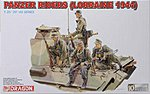 Panzer Riders Lorraine 1944 (4) -- Plastic Model Military Figure -- 1/35 Scale -- #6156