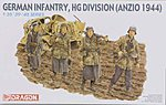 German Infantry HJ Division (Anzio 1944) -- Plastic Model Military Figure Kit -- 1/35 Scale -- #6158