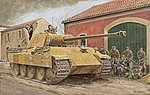 Panther Ausf. A Early Type -- Plastic Model Tank -- 1/35 Scale -- #6160