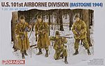 US 101st Airborne Division Bastogne 1944 -- Plastic Model Military Figure -- 1/35 Scale -- #6163