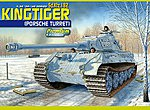 Kingtiger Porsche Turret Sd.Kfz.182w/Alm barl -- Plastic Model Tank Kit -- 1/35 Scale -- #6312