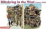 Blitzkrieg West France '40 (5) -- Plastic Model Military Figure -- 1/35 Scale -- #6347