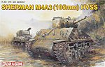 Sherman M4A3 with 105mm Howitzer Gun & HVSS -- Plastic Model Military Kit -- 1/35 Scale -- #6354