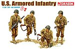 US Armored Infantry Gen 2 (4) -- Plastic Model Military Figure Kit -- 1/35 Scale -- #6366