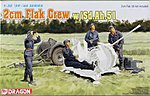 2cm Flak Crew with Sd.Ah.51 2-Wheel -- Plastic Model Military Figure Kit -- 1/35 Scale -- #6368