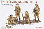 Soviet Guards Infantry Figure Set 1944-1945 -- Plastic Model Military Figure -- 1/35 Scale -- #6376