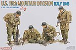 US Army 10th Mountain Division Italy '45 -- Plastic Model Military Figure Kit -- 1/35 Scale -- #6377