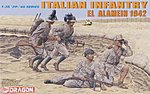 Italian Infantry El Alamein '42 (4) -- Plastic Model Military Figure Kit -- 1/35 Scale -- #6391