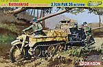 Sd.Kfz.2 Kettenkrad/3.7cm Pak 36 w/Crew -- Plastic Model Halftrack Kit -- 1/35 Scale -- #6446