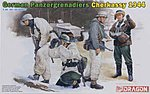Panzergrenadiers Cherkassy '44 (4) -- Plastic Model Military Figure -- 1/35 Scale -- #6490