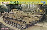 SdKfz 167 StuG IV Early Tank -- Plastic Model Tank Kit -- 1/35 Scale -- #6520