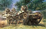 IJA Type 95 Light Tank Ha-Go -- Plastic Model Tank Kit -- 1/35 Scale -- #6767