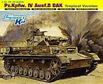 Pz.Kpfw.IV Ausf.D DAK Tropical Version -- Plastic Model Tank Kit -- 1/35 Scale -- #6779