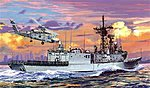 USS Ingraham FFG-61 Late Hull -- Plastic Model Military Ship Kit -- 1/700 Scale -- #7068