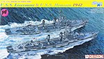 USS Livermore and USS Monssen 1942 -- Plastic Model Destroyer Kit -- 1/700 Scale -- #7088