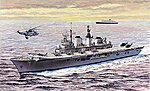 HMS Invincible Light Aircraft Carrier -- Plastic Model Aircraft Carrier Kit -- 1/700 Scale -- #7128