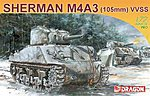 M4A3 Sherman 105mm -- Plastic Model Military Vehicle -- 1/72 Scale -- #7274