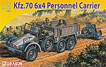 Kfz 70 6x4 Personnel Carrier & 3.7cm PaK 35/36 -- Plastic Model Military Vehicle -- 1/72 -- #7377