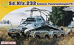 Sd.Kfz.232 Schwerer Panzerspahwagen -- Plastic Model Armored Vehicle -- 1/72 Scale -- #7429