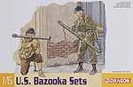 Bazooka Set M1 & M9 -- Plastic Model Military Weapons Kit -- 1/6 Scale -- #75008