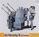 1/6 2cm Flakvierling 38 Mid Prodcution