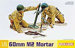 US M2 Mortar & M1 Garand Rifle -- Plastic Model Weapons Kit -- 1/6 Scale -- #75024